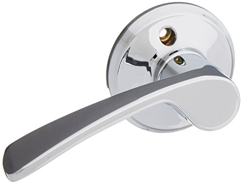 Schlage F170-MER-LH F-Series Merano Single Dummy Left Handed Door Lever, Polished Chrome (Merano F-series Chrome Lever)
