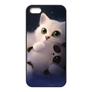 ALICASE Diy Customized Hard Case Lovely Cat for iPhone 5,5S [Pattern-1] by heywan