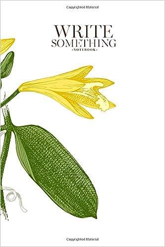 Amazon com: Notebook - Write something: Colorful vanilla plant hand
