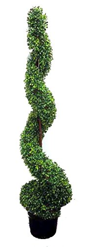 Admired-Nature-5-Artificial-Spiral-Boxwood-Topiary-Plant-Tree-in-Plastic-Pot-Green