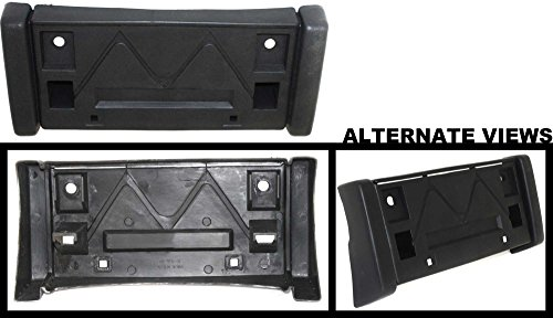 APDTY 112703 License Plate Black Plastic Holder Bracket Fits Front 1994-1997 GMC Jimmy 1994-1997 GMC Sonoma (Models Without Side Moulding) Replaces 15672293