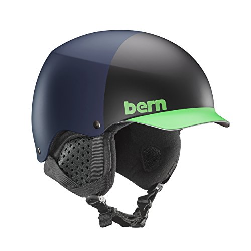 Bern Baker Snow Helmet (Matte Blue Hatstyle with Black Liner, Medium)