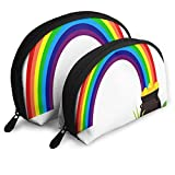 Makeup Bag Rainbow Saint Patrick's Day Handy Half Moon Cosmetic Bags Case For Women