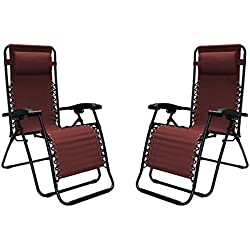 Infinity Zero Gravity Chair - 2 Pack - Choice of Colors