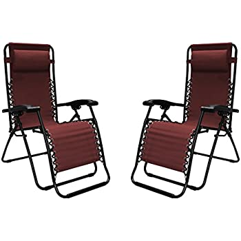 Caravan Sports Infinity Zero Gravity Chair - 2 Pack, Burgundy