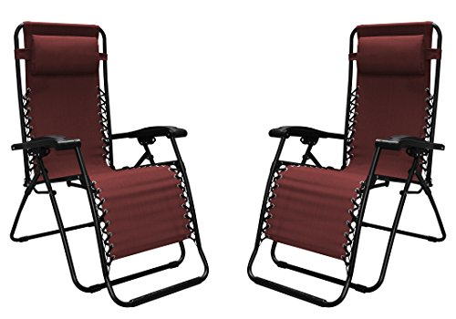 Caravan Sports Infinity Zero Gravity Chair - 2 Pack, Burgundy by Caravan Sports