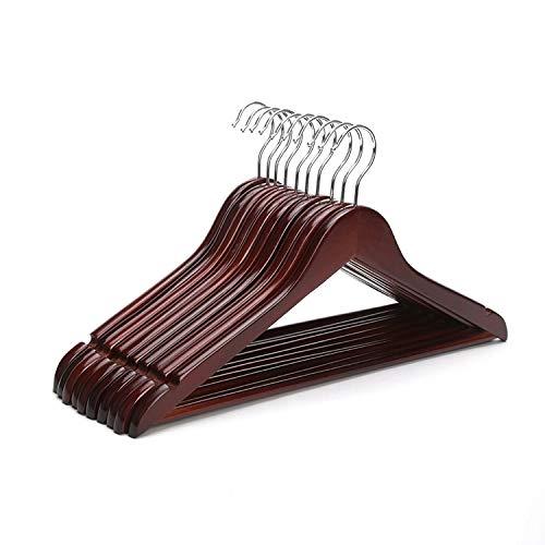 (Owl Decoration Wood Hangers - Hangerlink Red Mahogany Wood 17-Inch Suit Hangers, Burgundy Hanger (12)