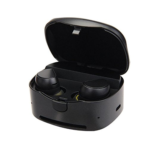 Cheap Wireless Earbuds, Truly Wireless Stereo Bluetooth 4.1 Headphones with Charging Box Noise Cancelling Sweatproof Bluetooth Earphones for iPhone iPad, Smartphones Tablets, Laptop and More (Black)
