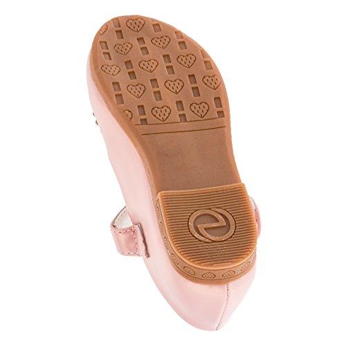 Infiniti Festliche Mädchen Ballerina Schuhe in Vielen Farben M278rs Rosa Gr.31