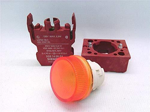 FURNAS ELECTRIC CO 3SB1204-6BD06 Pilot Light Yellow LAMP 250V 2.5W