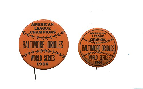 1966 Baltimore Orioles World Series Pins. Set of 2