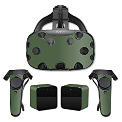 MightySkins Protective Vinyl Skin Decal for HTC Vive wrap cover sticker skins Solid Olive