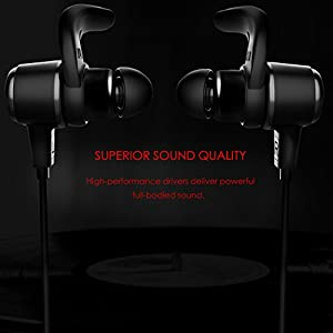 Origem Wireless Headphones, Bluetooth 4.1 Earbuds Sweatproof Sport Earphones with 12 Hours Play Time for Running, Gym, Exercise and Workout