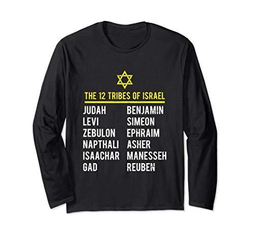 12 Tribes of Israel Hebrew Israelite Long Sleeve T Shirt