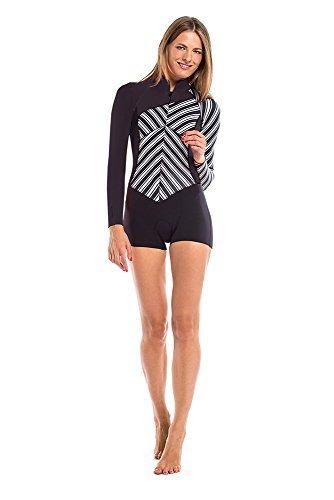 Glidesoul Women's Vibrant Stripes Collection 2mm Spring Suit with front zipper XX-Small Stripes Print/Black [並行輸入品]   B07K1RRGXB