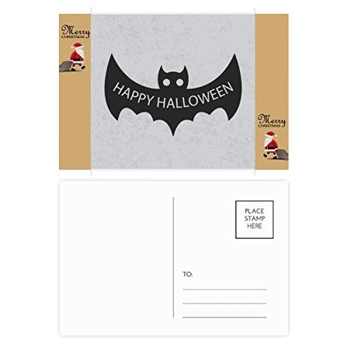Hallowmas Black Bats Happy Halloween Santa Claus Gift Postcard Thanks Card Mailing 20pcs]()