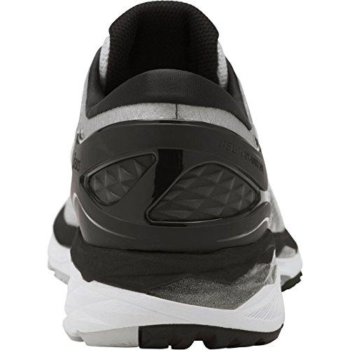 ASICS Mens Gel-Kayano 24 Running Shoe, Silver/Black/Mid Grey, 6 2E US by ASICS (Image #2)