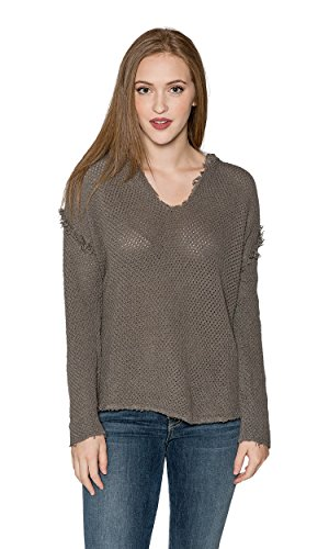 Velvet by Graham & Spencer Christen Crochet Knit Hoodie (M) by Velvet by Graham & Spencer