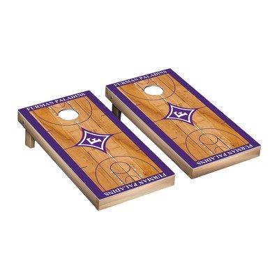 Furman Paladins regulation Cornhole Game Set Basketball Courtバージョン