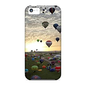 New Tpu Hard Case Premium Iphone 5c Skin Case Cover(ballons)