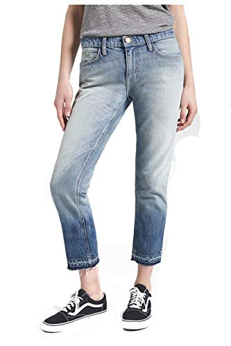 Current/Elliott The Cropped Straight Jean for Women in Indigo Ombre with Released Hem, 29