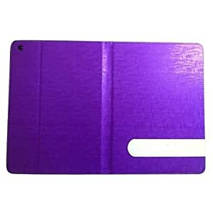 Brushed Grid Full Body Case with Card Slot and Stand Back Cover for iPad Air and iPad 5 (Assorted Colors) , Dark Blue