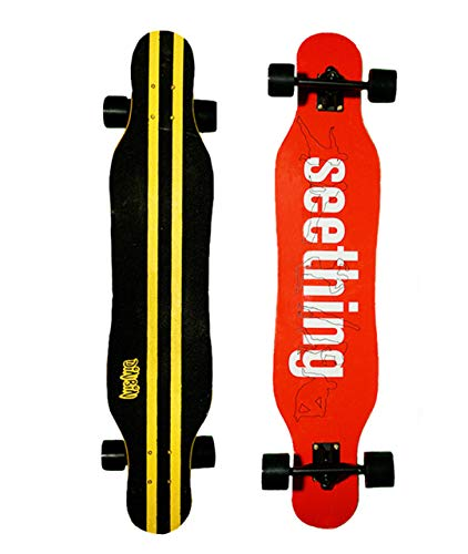 Downhill Deck Skateboard - DINBIN Longboard Skateboard 41 Inch Drop Through Deck Complete Cruiser for Cruising,Carving,Freeride,Downhill and Dancing