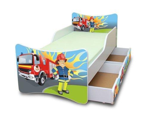 Feuerwehrbett mit Matratze - Best For Kids Feuerwehrbett 90x200