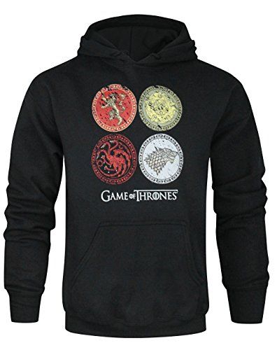 Official Game Of Thrones House Crests Unisex Hoodie (S)