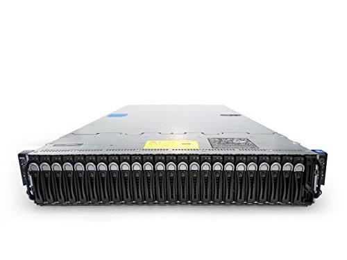 Dell PowerEdge C6220 II 4-Node 24-Bay SFF 2U Server (Gen2), 8X Intel Xeon E5-2680 2.7GHz 8C, 2TB DDR3, 24x 1.6TB SSDs, 9265-8i, 2X 1100W PSUs, Rails (Certified Refurbished)