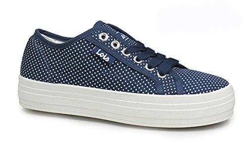 LOIS - Zapatillas con plataforma - Azul marino - 84293: Amazon.es: Zapatos y complementos