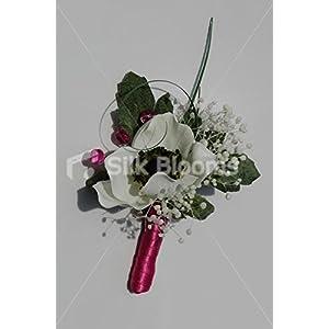 Beautiful Ivory Anemone Wedding Buttonhole w/ Dried Gypsophila 119