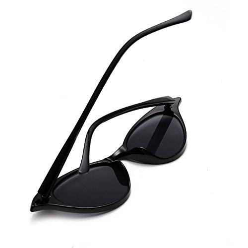 Marco brillante UV400 Negro Metal Homyl Ojos Gafa para borgoña Deporte de de Viaje Ciclismo de Gato Lente Sol Colorida Unisex 4fgqwH4zR