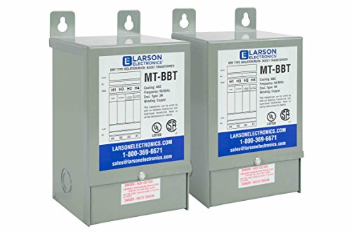 3-Phase Buck/Boost Step-Down Transformer - 528V Primary - 480V Secondary -22.9 Amps -50/60Hz by Larson Electronics