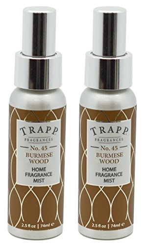 Trapp Home Fragrance Mist, No. 45 Burmese Wood, 2.5-Ounce (2-Pack) (Candle Burmese Wood)