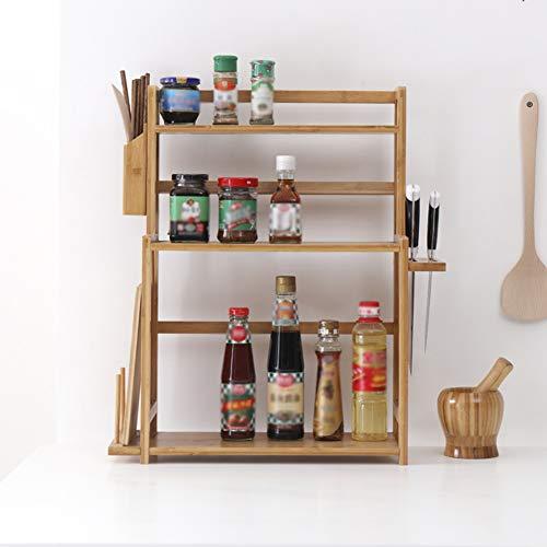 Kitchen Storage Shelf Racks Storage Basket Shelf Baskets Bamboo Household Spice Rack Kitchen Multifunction Tool Holder Multiple Choices ZHAOYONGLI (Size : 521860cm) by ZHAOYONGLI-shounajia (Image #3)