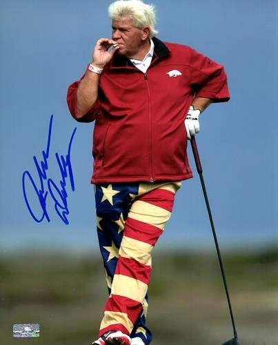 - John Daly Autographed Signed Auto Golf Smoking 8x10 Photograph - Certified Authentic