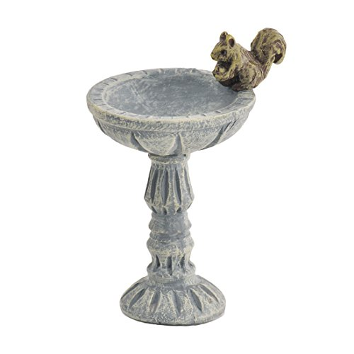 Georgetown Home & Garden Miniature Squirrel Bird Bath Stake Garden Decor For Sale