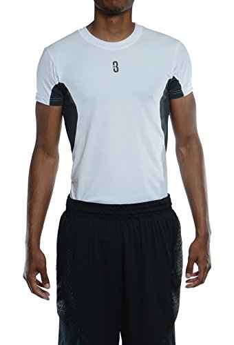 White Shooter Sleeveless T-shirt - POINT 3 ISO Youth Compression Basketball Shirt