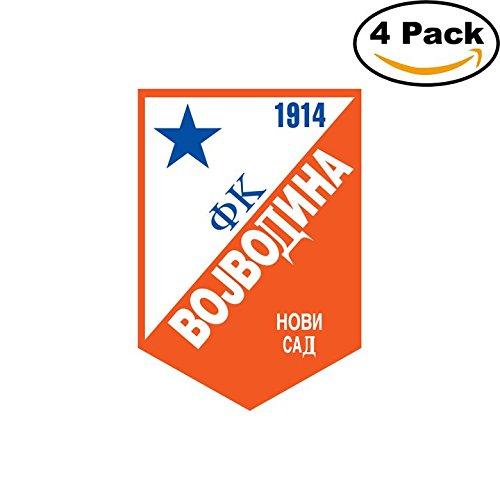 fan products of Vojvodina Yugoslavia Soccer Football Club FC 4 Stickers Car Bumper Window Sticker Decal 4X4