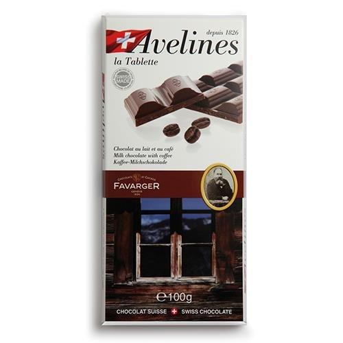 Favarger - Tableta Avelines de chocolate con leche al café: Amazon.es: Alimentación y bebidas