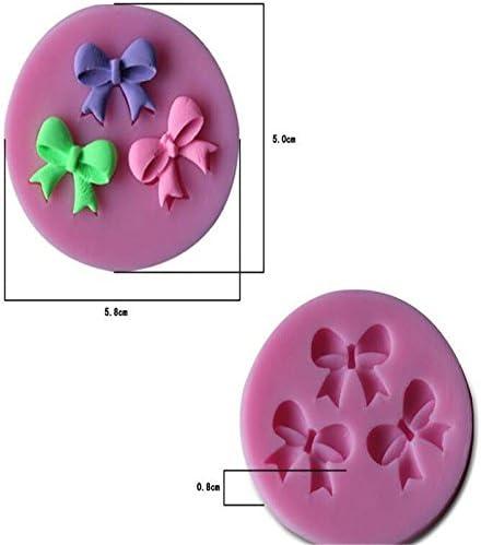 Mogist N/œud Moule en silicone Chocolat Moules Emporte-pi/èce Moules DIY D/écoration de g/âteau Chocolat Moule /à g/âteau