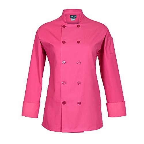 Fame Women's Long Sleeve Chef Coat (xl, Raspberry) ()
