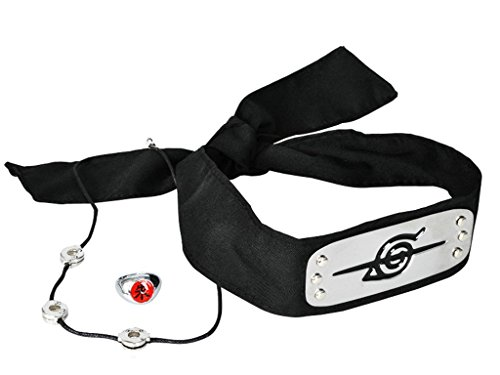 CosFantasy Uchiha Itachi Cosplay Head Band+Ring+Necklace Set ()