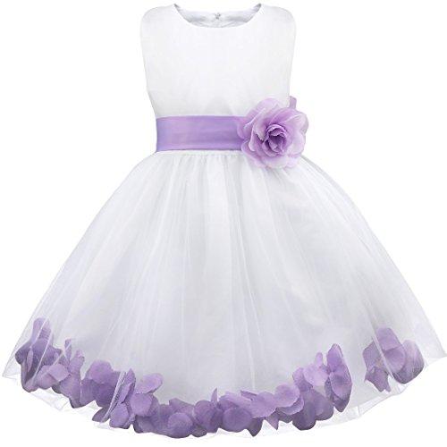 FEESHOW Wedding Pageant Flower Girls Dress Bridesmaid Formal Party Graduation Lavender