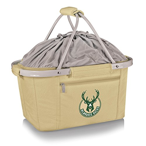 NBA Milwaukee Bucks Insulated Metro Basket, Cream