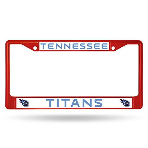 (Rico Industries NFL Tennessee Titans Team Colored Chrome License Plate Frame, Red)