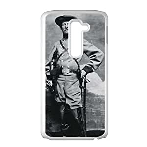 LG G2 Cell Phone Case White Rebel Col John S Mosby The Grey Ghost X6H6FP
