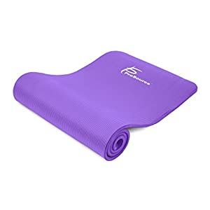 "Prosource Premium Extra Thick Yoga and Pilates Mat 1/2"", Purple"