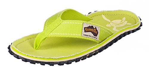 Gumbies - Sandalias de algodón para mujer Lime Turtle